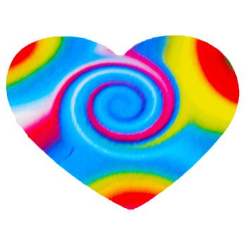 Paper Funky Heart Sticker Rolls (Roll of 100)
