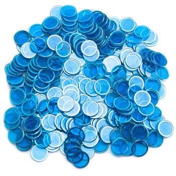 300 Pack Blue Magnetic Bingo Chips