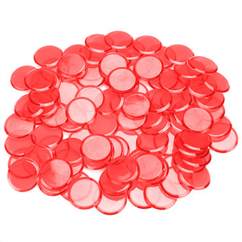 100 Pack Red Bingo Chips