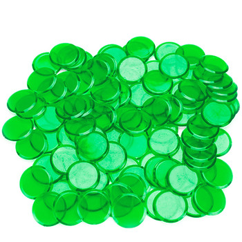 100 Pack Green Bingo Chips