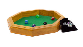 12 in Wooden Octagonal Dice Tray