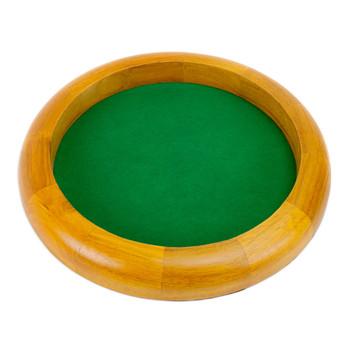 12 in Wooden Circular Dice Tray