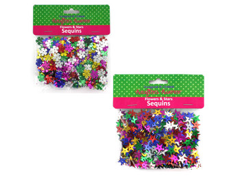 Flowers & Stars Sequins (pack of 12)