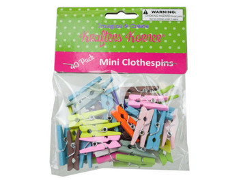 Miniature Colored Craft Clothespins (pack of 24)