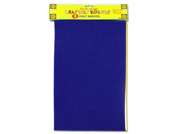 Colored Craft Felt Sheets (pack of 12)