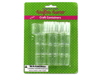 Small Plastic Craft Containers (pack of 12)