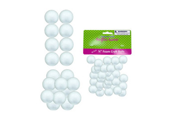 Small Foam Craft Balls (pack of 12)