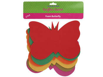 Foam Butterfly Craft Shapes (pack of 12)