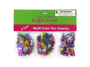 Star-Shaped Craft Sequins (pack of 24)