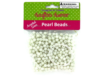 Plastic Craft Pearl Beads (pack of 36)