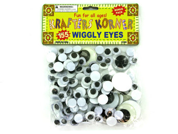 Plastic Craft Wiggly Eyes (pack of 24)
