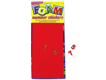 Foam Number Stickers (pack of 24)