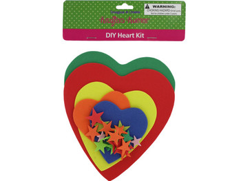 Do-It-Yourself Foam Heart Craft Kit (pack of 12)
