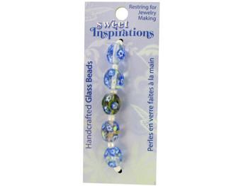 Monet's Garden Glass Beads (pack of 30)