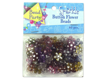 Sparkle Button Flower Beads (pack of 24)