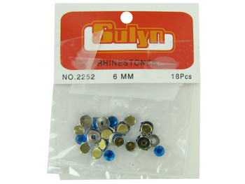Blue Rhinestones with Mounts (pack of 24)