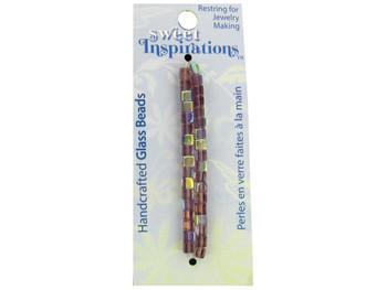 Handmade Glass Purple Glass Beads (pack of 30)