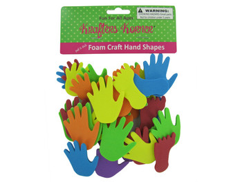 Foam Hand and Feet Craft Sticker Shapes (pack of 12)