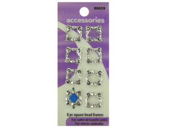 Square Frame Beads (pack of 24)