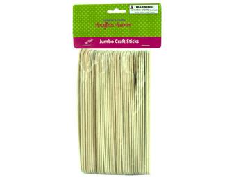 Jumbo Wood Craft Sticks (pack of 25)