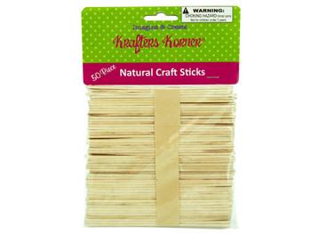 Flat Natural Wood Craft Sticks (pack of 25)