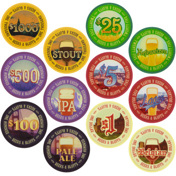 Beers & Bluffs Poker Chip Set