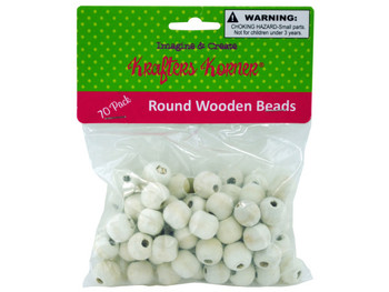 Round Wooden Beads (pack of 25)