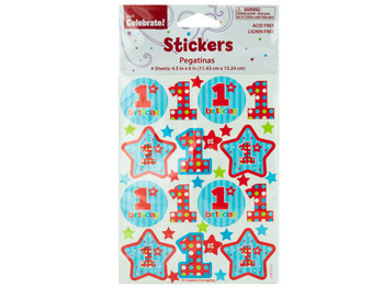 1st Birthday Stickers (pack of 24)