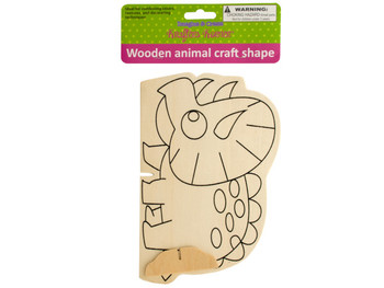 Wooden Animal Craft Shape (pack of 12)