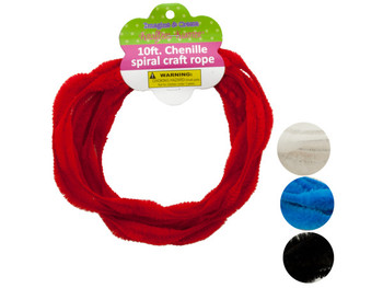 Chenille Spiral Craft Rope (pack of 12)