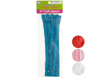 Craft Zippers (pack of 12)