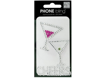 'Cheers' Phone Bling Removable Stickers (pack of 24)
