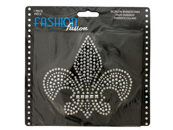 Fleur-de-lis Iron-On Rhinestones Decoration (pack of 24)