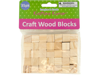 Natural Wooden Craft Blocks (pack of 24)
