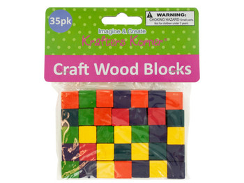 Colored Wooden Craft Blocks (pack of 24)