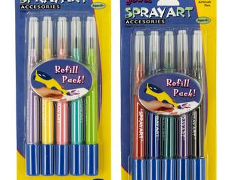 Spray Art Airbrush Pen Refill Cartridges (pack of 24)