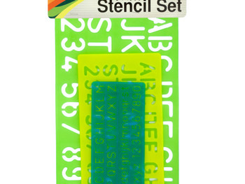 Numbers & Letters Stencil Set (pack of 12)