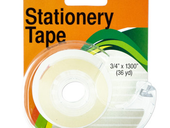 Clear Stationery Tape in Dispenser (pack of 12)