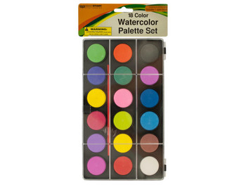 Watercolor Paint Palette Set with Brush (pack of 12)