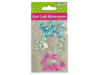 Faceted Oval Craft Rhinestones (pack of 20)