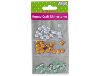 Faceted Round Craft Rhinestones (pack of 20)