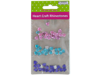Faceted Heart Craft Rhinestones (pack of 20)