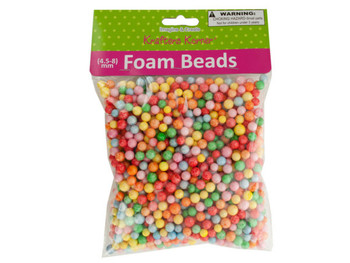 Large Multi-Colored Foam Craft Beads (pack of 18)