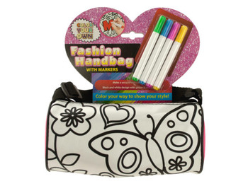 Color Your Own Fashion Roll Handbag with Markers (pack of 4)