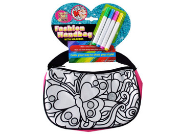 Color Your Own Glitter Fashion Handbag with Markers (pack of 4)