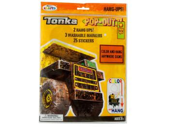 Tonka Trucks Pop-Outz Hang Ups Activity Set (pack of 20)
