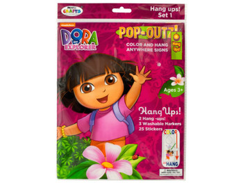 Dora the Explorer Pop-Outz Hang Ups Activity Set (pack of 20)