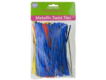 Long Metallic Craft Twist Ties Set (pack of 20)