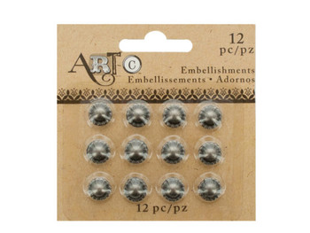 Antique Silver Craft Embellishment Studs Set (pack of 36)