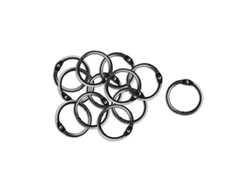Antique Silver Craft Embellishment Rings (pack of 36)